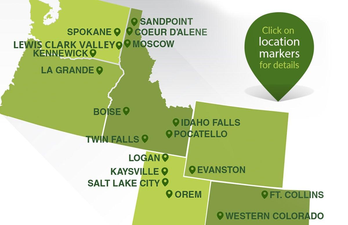Pocatello Zip Code Map.Contact Us J U B Engineers